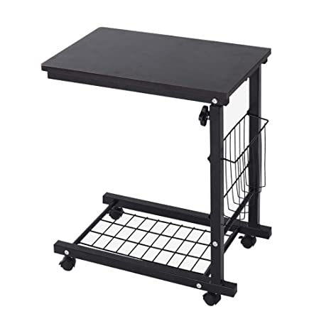 Amazon.com: Mesa auxiliar para sofá, cama, bandeja, mesa ...