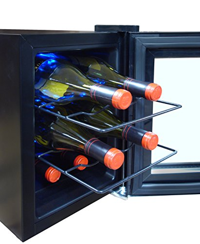Vinotemp 36 Bottle Touch Screen Mirrored Wine and Beverage Cooler