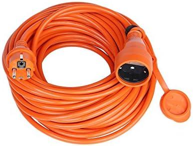 Cable alargador de corriente con Schuko IP44, para Jardín, Hogar ...