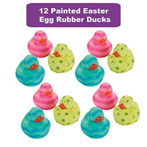48 Count Easter Rubber Ducks Bulk Variety Pack - Kids Easter Egg Hunt Prizes - Easter Basket Fillers - Spring Fling Ducky Party Favors Giveaways - Assorted Bunny Rubber Duckies by The Old Blue Door (Image #2)