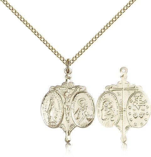 Novena Pendants Gold Plated Novena Pendant Including 18 Inch Necklace