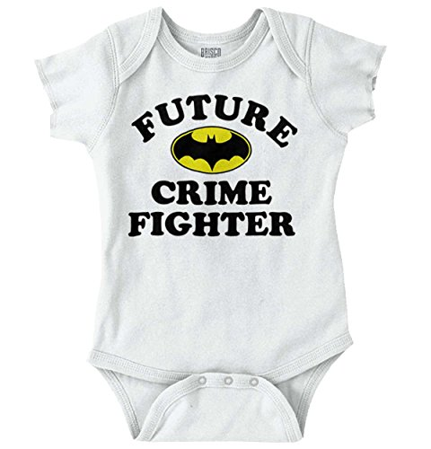 Future Crime Fighter Funny Batman Cute Baby DC Comic Nerd Onesie - Crime Fighter Batman