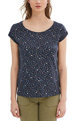 edc by Esprit 037cc1k042, Camiseta para Mujer Multicolor (Dark Blue)