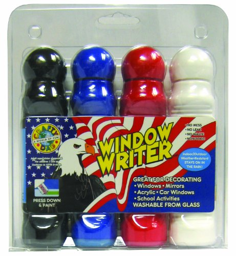 Crafty Dab Window Writer - 4 Pack Clamshell - Patriotic by Clarence J. Venne, LLC