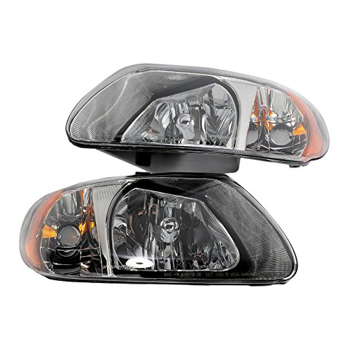 (2PC Driver & Passenger Headlights Headlamps Set Replacement for Chrysler 2001 2002 2003 2004 2005 2006 2007 Town & Country/Voyager | 2001-2007 Dodge Caravan/Grand)