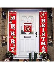 AHEYE زينة عيد الميلاد للمنزل - الحديث مزرعة ديكور - عيد ميلاد سعيد وسنة جديدة سعيدة سانتا الأحمر - عيد الميلاد لافتات للداخلية الجبهة في الهواء الطلق باب غرفة المعيشة حزب جدار المطبخ