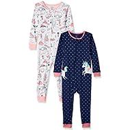 [Sponsored]Baby Girls' 2-Pack Cotton Footless Pajamas,