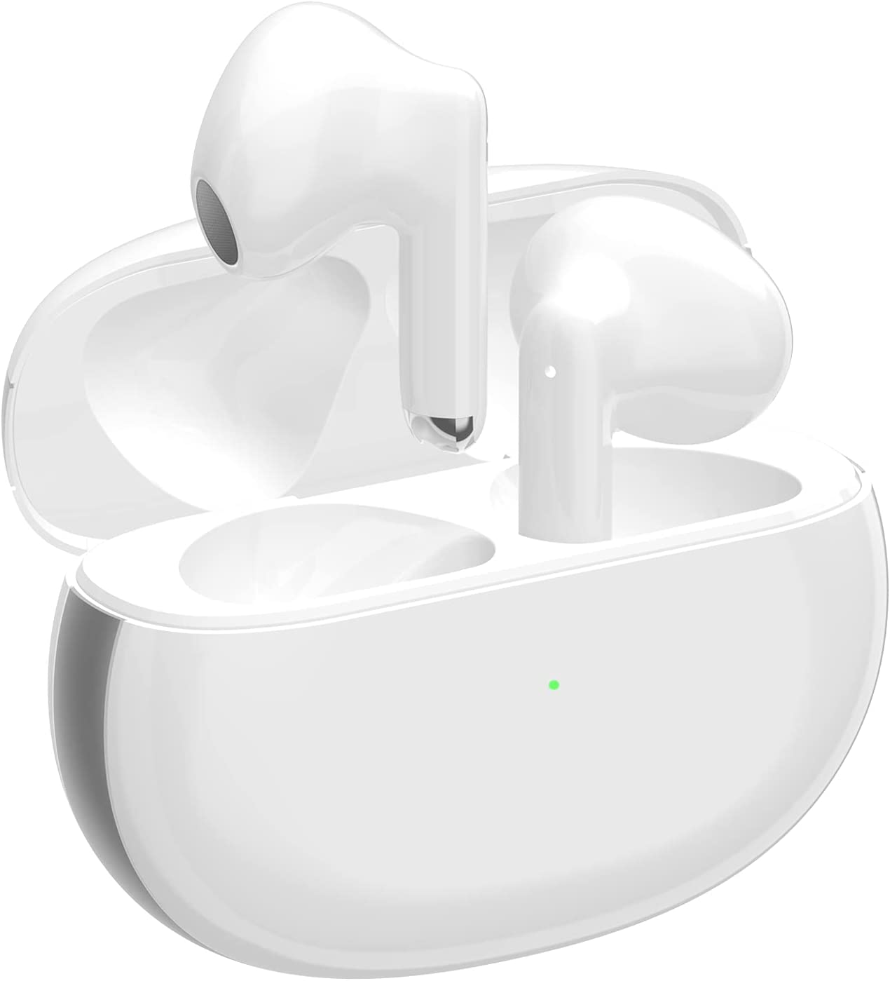Wireless Earbuds Air podswireless Bluetooth 5.1 Headphones with Noise Cancelling, Wireless Charging Case Earpods IPX6 Waterproof in-Ear Ear Buds Built-in Mic Stereo Air Buds for iPhone/Android (White)