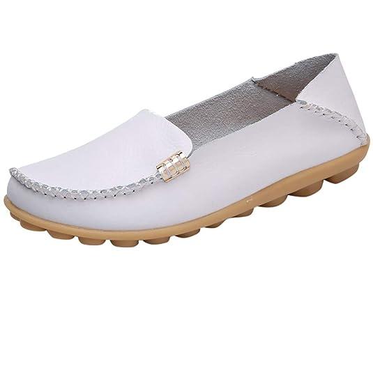 Mokassin Bootsschuhe/Damen Dorical Kunstleder Loafers Fahren Flache Schuhe Halbschuhe Slippers Erbsenschuhe Atmungsaktiv Frei