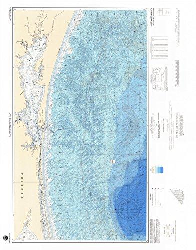 1990 Bathymetric Map--Fishing | Historical Fort Walton Beach, FL |