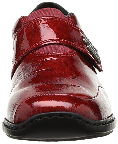 Rieker L3859 35 Damen Schnürhalbschuhe Rot - Rouge (Rot)
