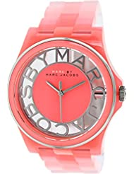 Marc by Marc Jacobs Henry Skeleton Coral Link Watch