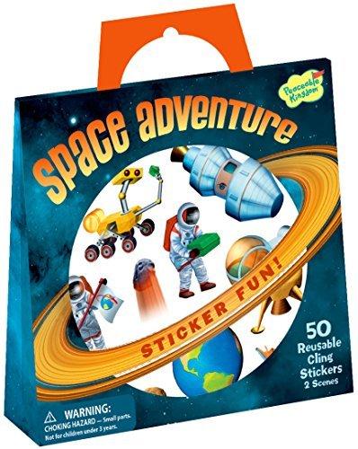 Peaceable Kingdom Sticker Fun! Space Adventure Reusable Sticker Tote