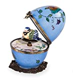 Butterfly and Bird Limoges Egg - Purple