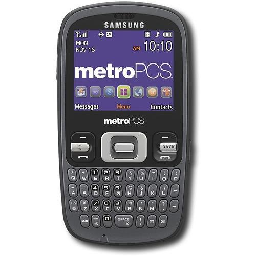 Metro PCS Samsung SCH-R350 Link No Contract Phone Red ()