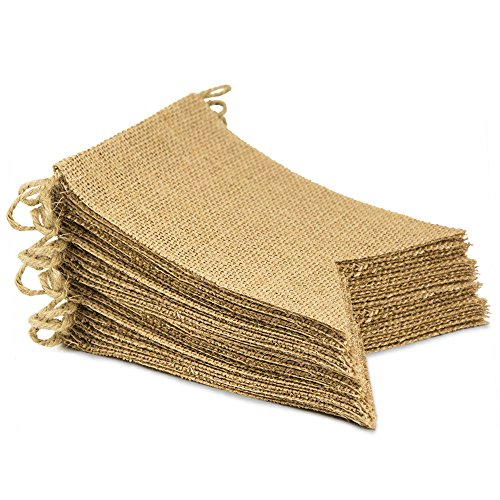 ThxToms (30 Pcs) Burlap Banner, DIY Party Decor