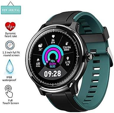 EUMI SmartWatch Reloj Inteligente IP68, Varias Interfaces Definidas Información Meteorológica Oxígeno en Sangre Ejercicios Respiratorios Medición de brazadas 8 Modalidades de Deporte para Andriod iOS