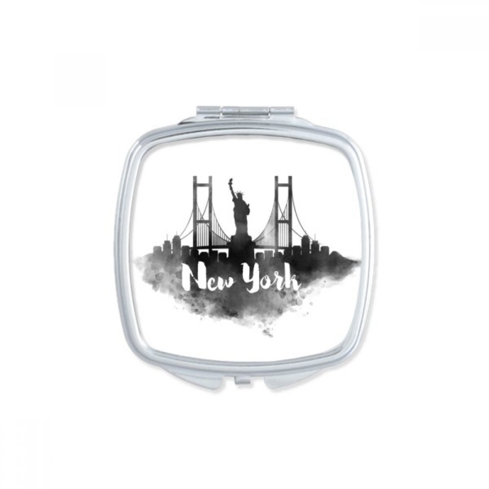 New York America Ink City Square Compact Makeup Pocket Mirror Portable Cute Small Hand Mirrors Gift