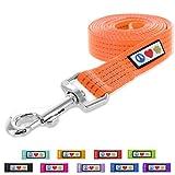 Pawtitas Pet / Puppy 6 - feet Reflective Dog Leash Medium / Large 1 Inch Orange Matching Collar and Harness sold separately.