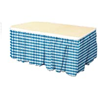 Pack of 6 Blue and White Oktoberfest Table Skirt Party Decorations 14