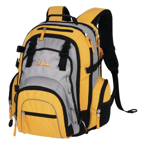 Rokk Approach Hiking Day Pack (19 x 13.5 x 9-Inch with 2250 cu. in Capacity), Outdoor Stuffs