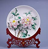 Product review for Hand kneading Chinese characteristics Handmade porcelain Peony hanging disc Free customization