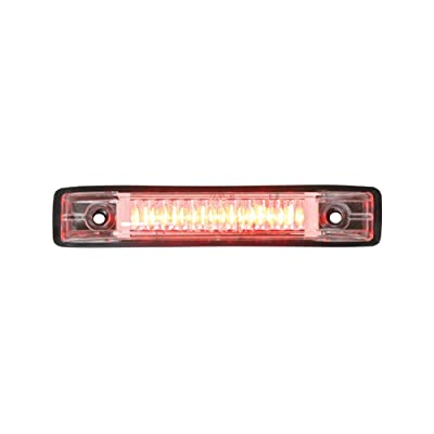 Grand General 77653 Red Thin Line 6-LED Marker and Clearance Sealed Light with Clear Lens: Automotive
