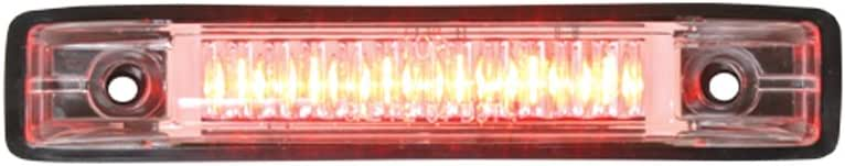 Grand General 77653 Red Thin Line 6-LED Marker and Clearance Sealed Light with Clear Lens