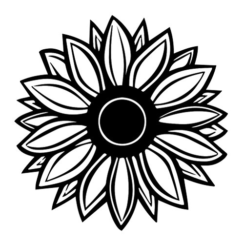 Sunflower Silhouette Vinyl Sticker Decal product image
