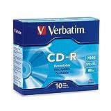 Verbatim CD-R 80MIN 700MB 52X Branded 10pk Slim Case 94935