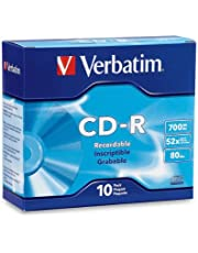 Verbatim CD-R 700MB 80 Minute 52x Recordable Disc - 10 Pack Slim Case