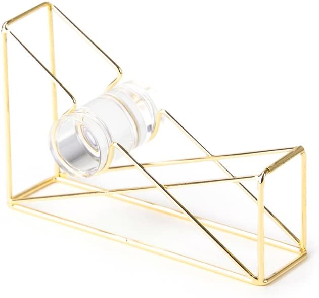 U Brands Desktop Tape Dispenser, Wire Metal, Gold - 898U06-48 : Office Products