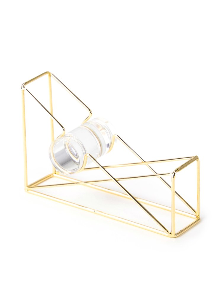 U Brands Desktop Tape Dispenser, Wire Metal, Gold