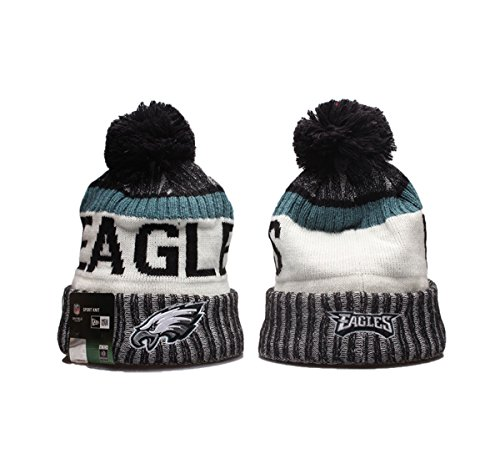 New Era NFL Team Logo Sport Knit Beanie with Pom (Philadelphia Eagles61,...