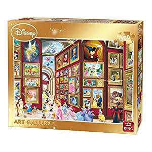 King 5263 Disney Art Gallery Puzzle Da Pezzi 90 X 60 Cm