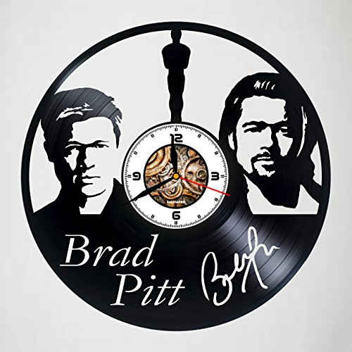 Brad Pitt - Actor - Handmade Vinyl Record Wall Clock - Get unique bedroom wall decor - Gift ideas for men and women,boys and girls - Film Movie Unique Art Design - Customize your clock !]()