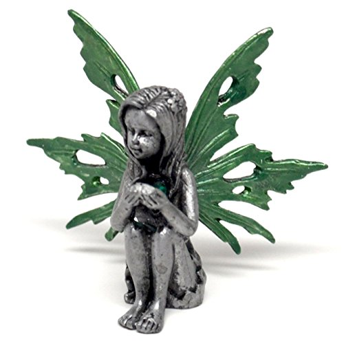 Pixie Glare Birthstone Pewter Fairy. 12 Fairies - Each Represent a Different Month (May) -
