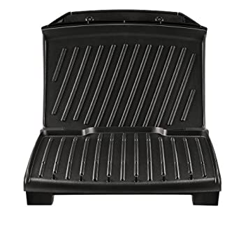 T-fal GC430D 4-Burger Curved Grill with Non-Stick Plates