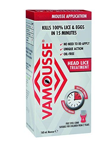 Vamousse Head Lice Treatment Mousse, 160 ml