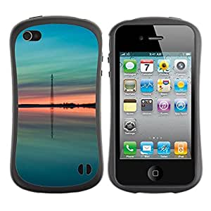"Hypernova Slim Fit Dual Barniz Protector Caso Case Funda Para Apple iPhone 4 / iPhone 4S [Teal verde melocotón verano Naturaleza""]"