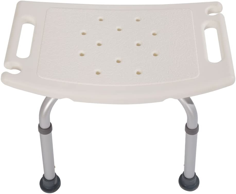 Aluminium Alloy Elderly Bath Chair, 7 Adjustable Height Bath und Shower Chair obere Rated Shower Bench Without Back