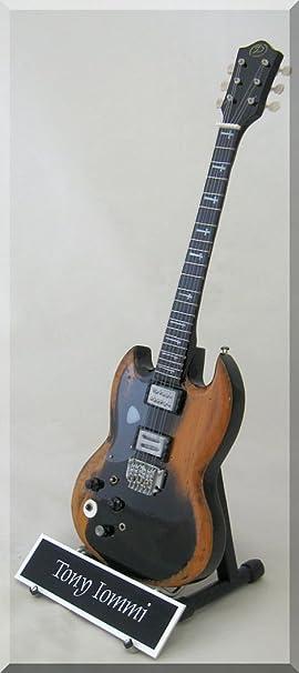Tony Iommi Guitarra en miniatura Black Sabbath personalizable con nombre