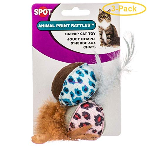 Animal Print Rattle with Catnip Cat Toy (Set of 2) [Set of 3]