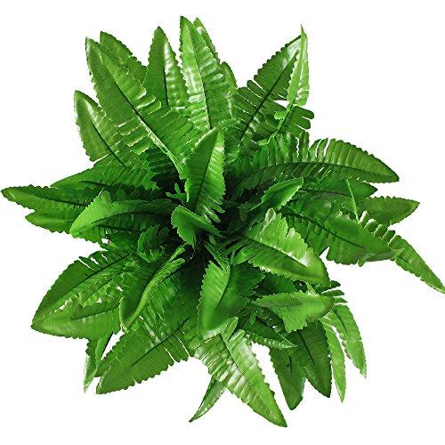 Gtidea 2pcs Artificial Silk Grass Persian Leaves Plants Bridal Home Garden Office Floor Restaurant Wedding Decor Green