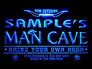 Sample's man cave sign with chain hanger