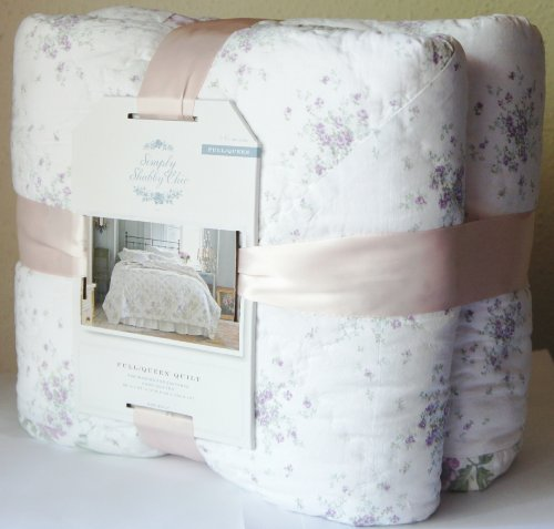 SIMPLY SHABBY CHIC FULL/QUEEN Size HAND- QUILTED QUILT