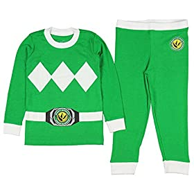 - 51WRpWL7y3L - Kids Mighty Morphin Power Rangers Costume Pajama Set