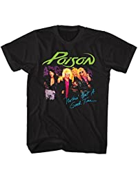 Poison Band Nothin But A Good Time Group Shot Adult T-Shirt