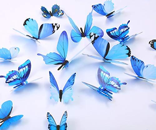 Combinacion Espejo 3d Pegatinas De Pared Decoracion azul