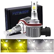 SUPAREE H8/H11 LED フォグ 3色切り替え LED フォグランプ ホ...